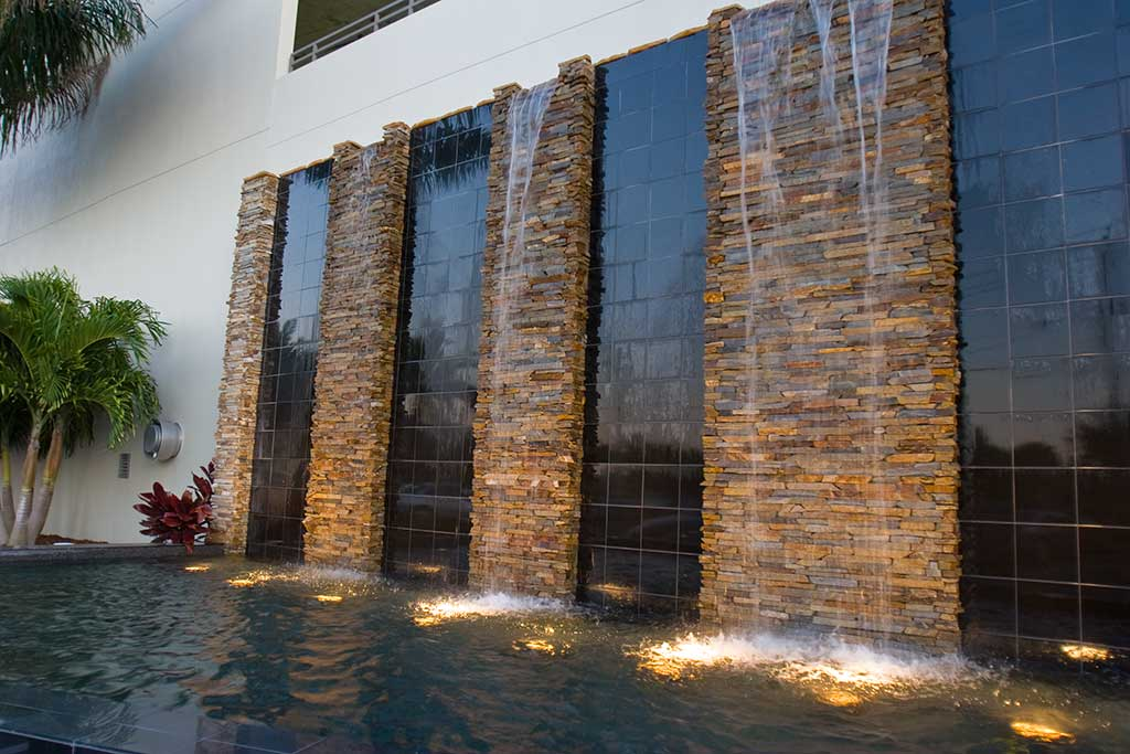 Commercial Water Feature At The Westin Hotel In Tampa Fl